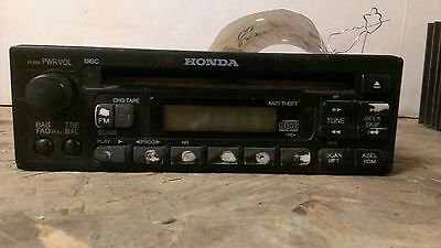 99 00 Honda Civic Sedan CD Radio Receiver 39100-S01-A301
