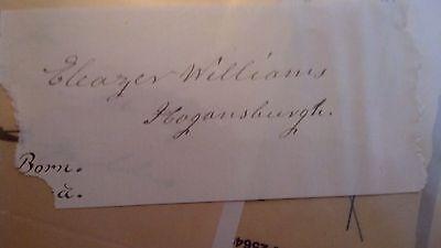 Eleazer Williams Signature - Bible
