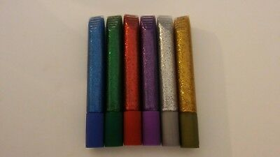 6 x Metallic Coloured (Gold, Silver, Blue, Purple, Green & Red) Glitter Glue