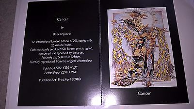 J C G Illingworth Cancer Art print Card promotion