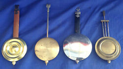 4 Vintage Small Wall or Counter Top Clock Pendulums (NR)