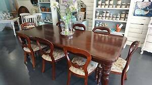 Elegant dining table and 8 balloon back chairs Corryong Towong Area Preview
