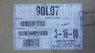Goulds Pumps Itt 7.5hp Wet End 6 Submersible Model 90l07 S02281917