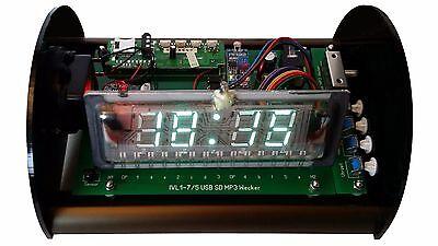 Bausatz Nixie Ära IVL1-7/5 USB SD MP3 Radiowecker + Acrylgehäuse DIY alarm clock