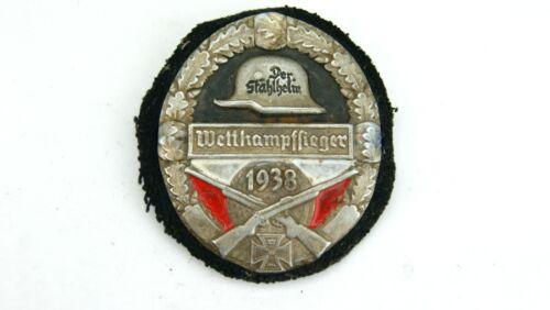 WW2 GERMAN WETTHAMPFFIEGER SHOOTING BADGE 1938 YEAR