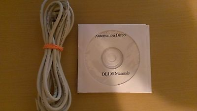 Programming Cable D2-dscbl With Software And Manuals For Automation Direct Dl105