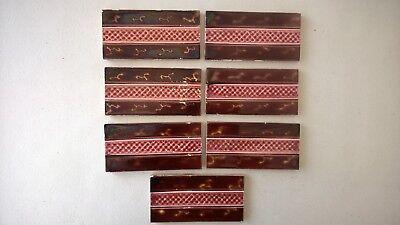 7 fireplace Tiles.   .stock item tiles W0011