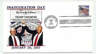 2017 Trump Pence Panda Cachets design 5 NY Times  Inauguration Day Cover Relist