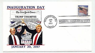 2017 Trump Pence Panda Cachets design 5 NY Times  Inauguration Day Cover