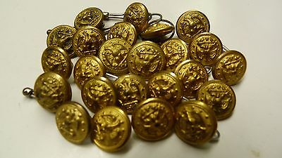 VTG 24 NAVY MILITARY BUTTONS EXTRA QUAL SUPERIOR SCOVILL VANGUARD REEDS ETC D4