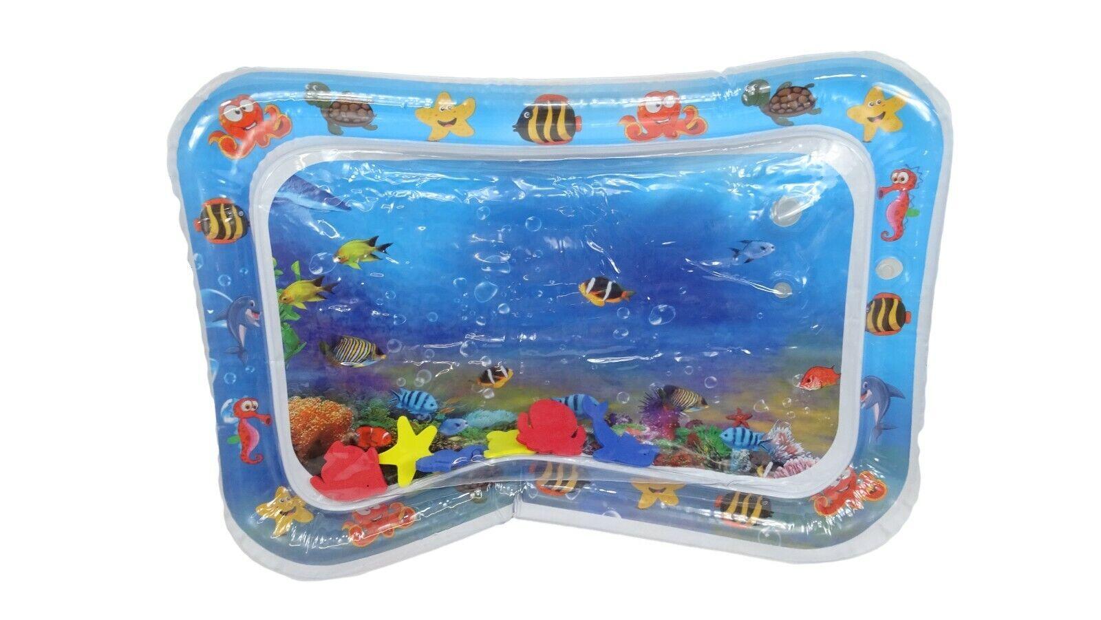 Baby Wassermatte Aufblasbare Kinder Tastmatte 66x50cm Spielmatte Wasserspielzeug