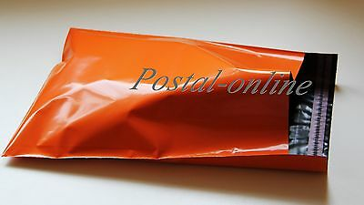 50 x ORANGE Plastic Mailing Bags 305 x 410 mm 12 x 16 12x16 for clothes shoes