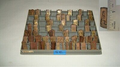 New Herms Engraving Font Type Set Double Line Century Capital Letter Number 5e