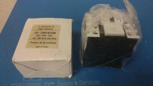 Potter & Brumfield 3-1672273-9 IEC Contactor 25A-380 VAC PBC-025A1Q NEW