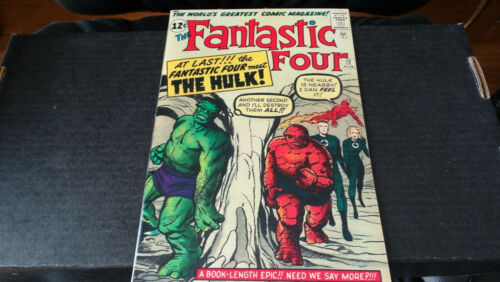 Fantastic Four #12 Highest quality Silver Age newsprint replica Hulk