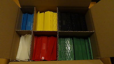 Set 600 Stück Kunststoffklötze, Verglasungsklötze, Unterleger  100x20x1-6 mm
