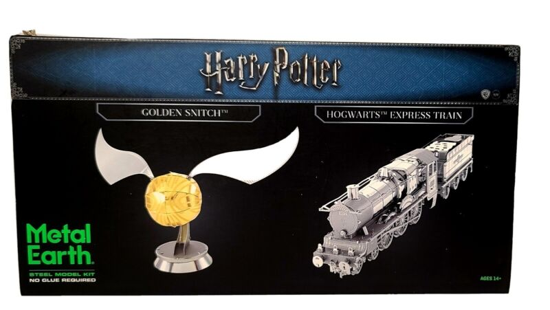 NEW Barnes & Nobles METAL EARTH Harry Potter GOLDEN SNITCH, HOGWARTS EXPRESS Kit