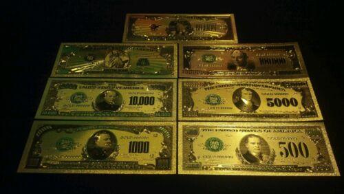 /<RAISED COLORED DETAILED/> GOLD U.S $1,000 Banknote Rep.*U.S SELLER