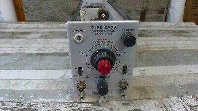 Tek Type 2a63 Differential Amplifier Oscilloscope Plugin Tektronix