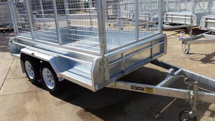 New 10x5 Galvanised Trailer with cage, spare and 12 Mths Rego