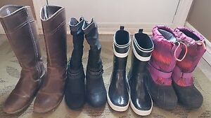 Girls size 6 boots, 4 pair for $25