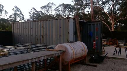 20ft Shipping Container with built in Cupboard & Shelves