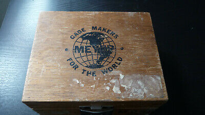 Meyer Makers Pin Gage Set M-o .011-.060 Plus In Wood Box