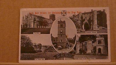 Postcard unposted Hertfordshire, St Albans 5 views