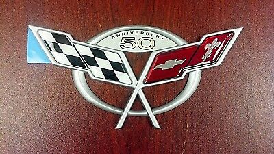 New OEM Rear Emblem - 2003 Chevrolet Corvette 50th Anniversary (19207386)
