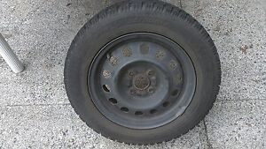 Mounted and balanced snow tires Hyundai Accent