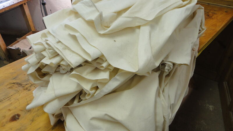 Homespun Linen Hemp/Flax Yardage 7 Yards x 53