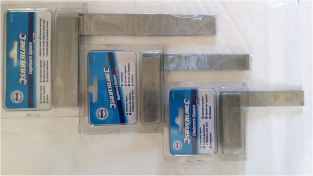 75 100 150mm Engineers' Squares 3 Piece Set Measuring Tool Solid Steel Precision