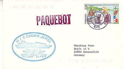 PANAMA CRUISE SHIP MS CROWN JEWEL A SHIPS CACHED COVER
