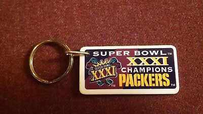 NEW Green Bay Packers Super Bowl XXXI (1997) Champs NFL Keychain Key Chain Ring  for sale  San Diego