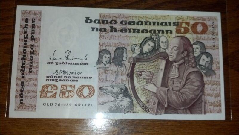 Ireland 50 Pounds 1991 UNC