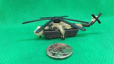 MILITARY MICRO MACHINES  SKY CRANE SKYCRANE CH54 CH-54  HELICOPTER TAN GREEN - Sky Crane