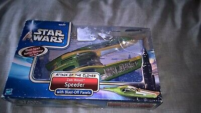 Star Wars Attack of the Clones Zam Wesell's Speeder with blast off panels ship