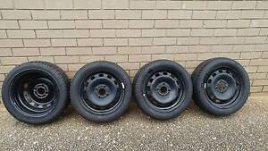 4 x 195/50R15 Steel Wheels/Rims Alloys with NEW NEAR Tyres Sunnybank Brisbane South West Preview