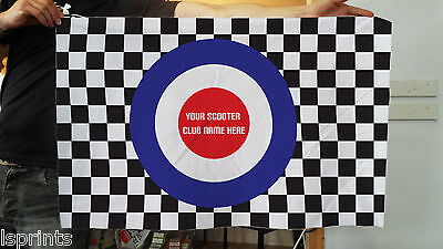 Personalised MOD TARGET CHECKERED FLAG Party Banner Flag & Eyelets 3 X 2 FT