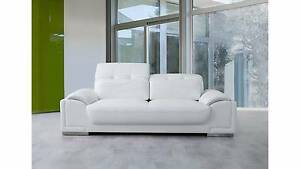 NEW - BRONTE LEATHER THREE-SEAT SOFA Milperra Bankstown Area Preview