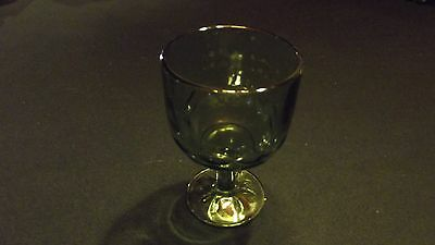 Large Green Glass Goblet