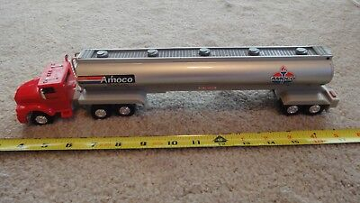 Amoco toy gasoline semi tanker truck. lights and sounds tractor trailer. Nice!