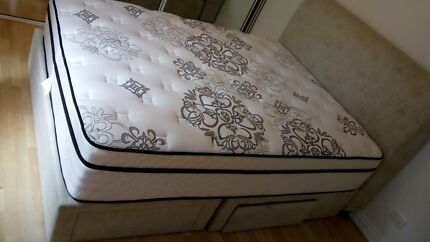 Queen Bed and Bed Frame with Storage