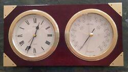 Vintage SEIKO Quartz QQZ131A Desk/Mantel Clock & Barometer