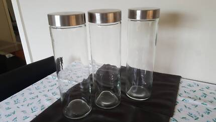 January 323#  3 Big Glass Food Jars $10
