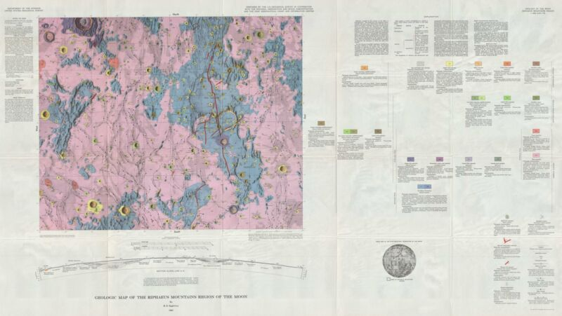 1965 USGS Geologic Map of the Moon: Riphaeus Mountains