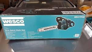 Brand New Wesco 40cm 37cc Petrol CHAINSAW WS37PCS Black North Wahroonga Ku-ring-gai Area Preview
