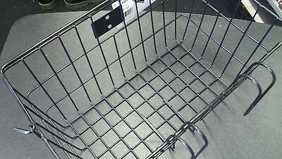 Sunlite Lift Off Bicycle Basket -14.5 x 8.5 x 7inches-quick mount  hooks-Black