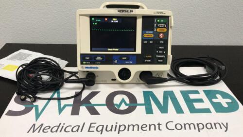 LifePak 20 3-Lead ECG, AED / RE-CERTIFIED Patient Ready