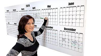 Dry Erase Calendar- 2019 Large Dry Erase Board Wall Calendar 36 High X 96 W...